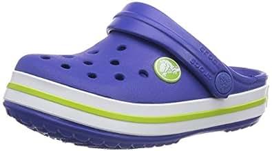 Crocs Crocband Kids, Sabots mixte enfant, Bleu (Cerulean Blue/Volt Green), EU 29-31, (US C12C13)