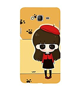 Winking Girl with Red Cap 3D Hard Polycarbonate Designer Back Case Cover for Samsung Galaxy On7 :: Samsung Galaxy On 7 G600FY