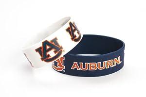 NCAA Auburn Tigers Silicone Rubber Bracelet Set, 2-Pack