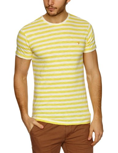 Farah Vintage The Weston Patterned Men's T-Shirt Maize X-Large