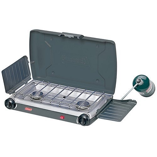 Coleman 2-Burner InstaStart PerfectFlow Propane Stove with Mini Tool Box (fs)