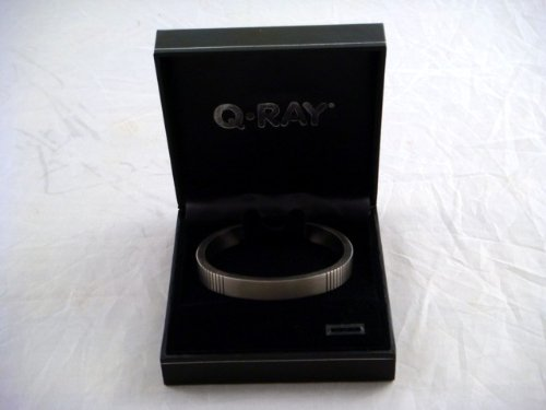 New Qray Titanium Medium Bracelet Magnetic Q-ray