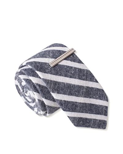 Skinny Tie Madness Men's Hero of the Day Plaid, Grey