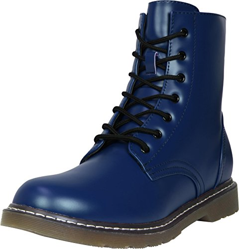 Anfibi-7fori, Unisex adulto, blu navy, 42
