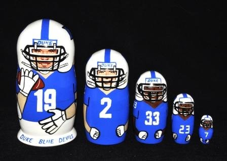 "Russian Nesting Dolls Duke Blue Devils Football, 5 Pieces, 6"" Tall at Amazon.com"