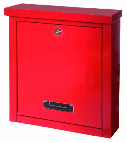 Rottner 4504 Brighton Top Loading Steel Post Box - Red