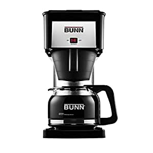 BUNN BXB Velocity Brew 10-Cup Home Coffee Brewer, Black
