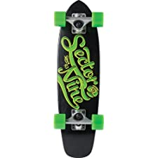 Sector 9 The Steady Complete Skateboard, Black, 6.75-Inch x 25.0-Inch