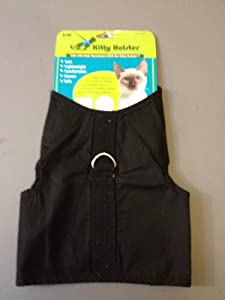 Kitty Holster Cat Harness, Medium/Large, Black