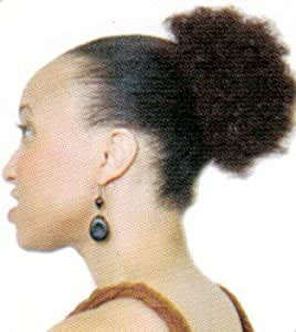 Afro Beauty Collection Synthetic Hair Drawstring Ponytail - Puff Wiglet S - Color 2 - Darkest Brown Black