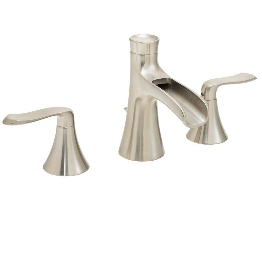 Bathroom Faucets Brushed Nickel Widespread : ... Widespread Bathroom Faucet, Brushed Nickel - Touch On Bathroom Sink