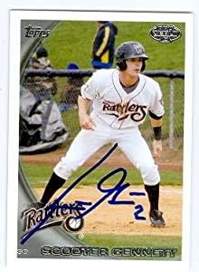 Scooter Gennett autographed baseball card (Milwaukee Brewers Wisconsin Timber... by Autograph Warehouse