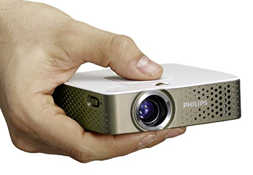 Philips PPX 3414 PicoPix Proiettore Tascabile, 140 Lumen, Grigio