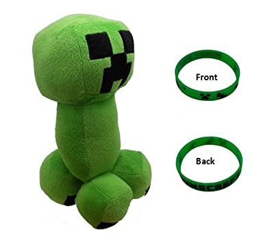 Minecraft Creeper 115 Plush Doll Toy With Bonus Green Bracelet by Minecraft
