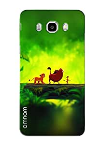 Omnam Jungle Book Character Printed Designer Back Cover Case For Samsung Galaxy J5 (2016)