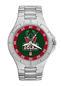 Milwaukee Bucks Mens Pro II Watch by Logo Art