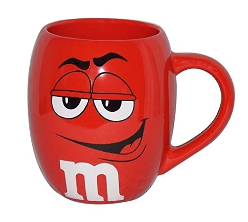 m ms big face ceramic barrel character mug w signature red shopswell