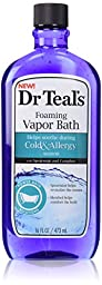 Dr. Teal\'s Cold and Allergy Foaming Vapor Bath (16-Ounce)