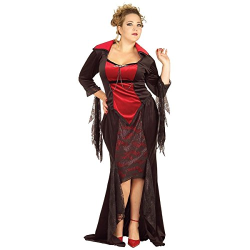 [GSG Plus Size Vampire Costume Adult Female Vampiress Halloween Fancy Dress] (Pharaoh Adult Mens Plus Size Costumes)
