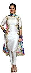 vaankosh fashion Women's bollywood Style Georgette duppata With printed Work Designer Salwar Kameez / Wedding wear Dress Material / Bollywood Style Salwar Kameez (Latest Collection) •