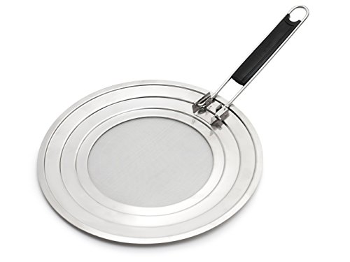 Black Dap: Splatter Screen Guard With Folding Handle - Stainless Steel Material - For Cover Frying Pan & Skillet - Premium Quality. Fine Mesh - Dishwasher Safe - Protect Kitchen - Cooking Helper (Turn Knob Microwave compare prices)