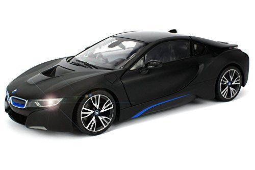 Officially-Licensed-BMW-i8-Authentic-wOpen-Doors-RC-Vehicles-Scale-114-by-Rastar-Black