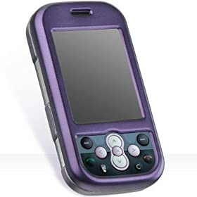 New Rubberized Hard Cover for LG Neon GT365 Purple Protector Case