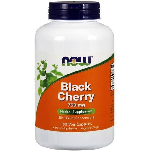 NOW Foods Black Cherry Fruit 750 mg - 180 Veg Capsules (Now Black Cherry Extract compare prices)