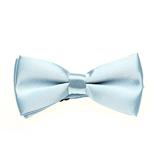 Children Baby Bow Tie Sky Blue Chinlon Adjustable for Dinner Party