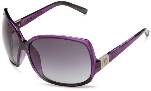 Electric Visual Women'S Lovette Oversized Sunglasses,Purple Black Fade Frame/Grey Gradient Lens,One Size