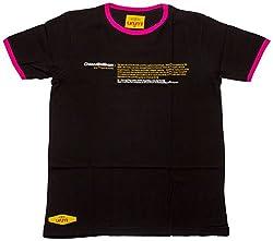 Urumi Women's Regular Fit T-Shirt (Black, Small)
