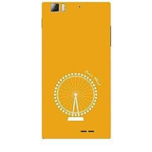 Skin4gadgets Iconic Wonder Ferris Wheel Colour - Gold Phone Skin for LENOVO K900