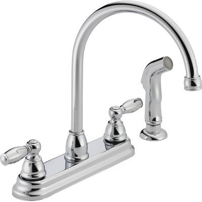Peerless Two Handle Kitchen Faucet with Side Spray