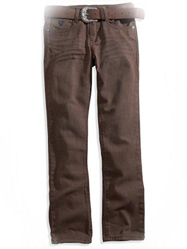 Guess Kids Big Boy Belted Bootcut Pants (8-20), Dark Brown (10)