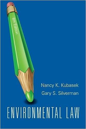 Environmental Law (8th Edition) written by Nancy K. Kubasek