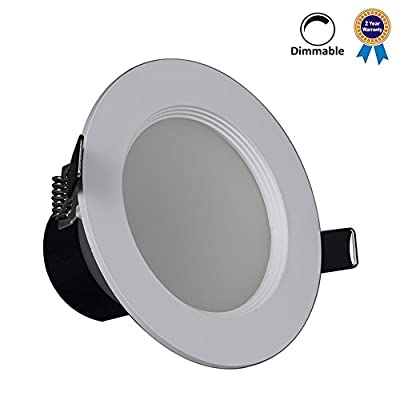 Mr.Lighting Dimmable LED Recessed Ceiling Lighting Fixtures, Incandescent Bulb Equivalent, 3000K/6000K, LED Downlight (Budget-friendly, 2 Years Warranty)