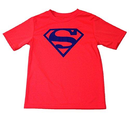 DC Comics Superman Performance Tee Small (6/7) Orange / Blue Emblem (Superman T Shirt Emblem compare prices)