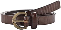 Garvan Women's Brown Leather Belt (LBW 2-Brown, Size : 28)