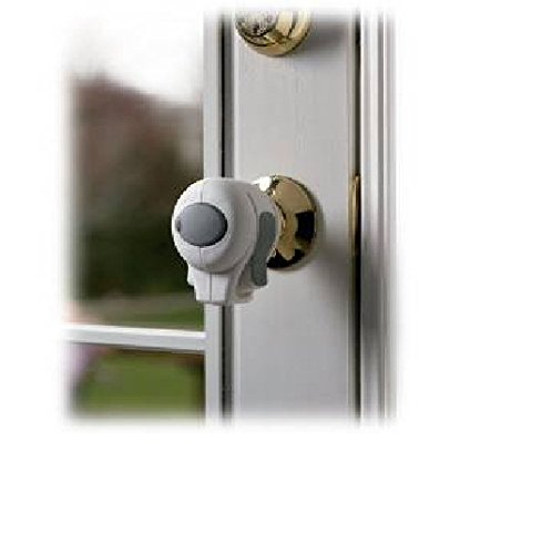 Kidco Door Knob Lock Clear 4 Pack