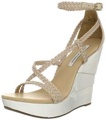 Diane von Furstenberg Women's Olive Wedge Sandal,Pumice,8.5 M US