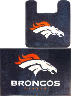 Denver BRONCOS 2pc Bath Bathroom MAT Rug Collection at Amazon.com