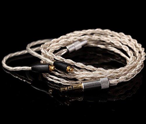 KINDEN イヤホンリケーブル 4股手編み Y型 柔らかいイヤホン線 メモリーチューブつき 長さ1.2mm 掛け式線 簡単に取り替え