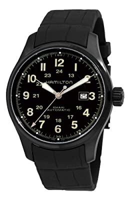 Hamilton Men's H70685333 Khaki Field Black Automatic Dial Watch