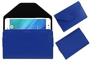 Acm Premium Pouch Case For Infocus M535 Metal Flip Flap Cover Holder Blue