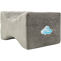 Memory Foam Knee Pillow For Amazing Pain Relief by Cushy Cloud - Most Comfortable Orthopedic Leg Positioner Contour Knee Spacer Best Pillows
