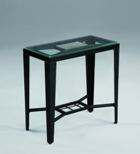 Buy Low Price Black Corland Glass Chairside End Table