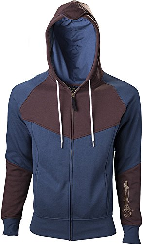 Bioworld - Sweat-Shirt - Assassin's Creed Unity - Hoodie Blue/Brown - Taille XL - 8718526040210