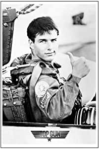 Top Gun Movie Tom Cruise Thumbs Up Poster Print
