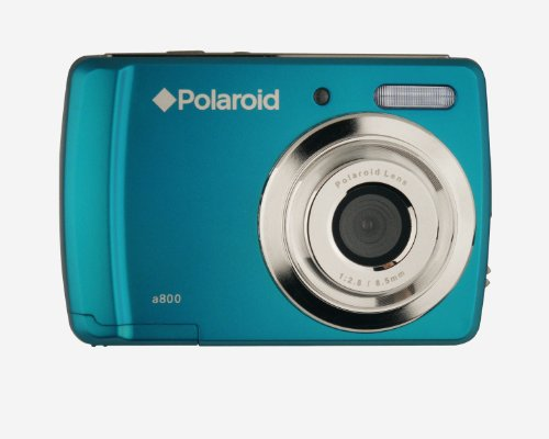 Polaroid CAA-800QC 8 MP Digital Camera CMOS Sensor with 3x Optical Zoom, Turquoise