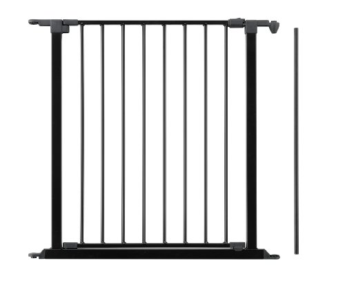 "Baby Dan Safety Gate Extension with Door, Black, 28"" x 4"""
